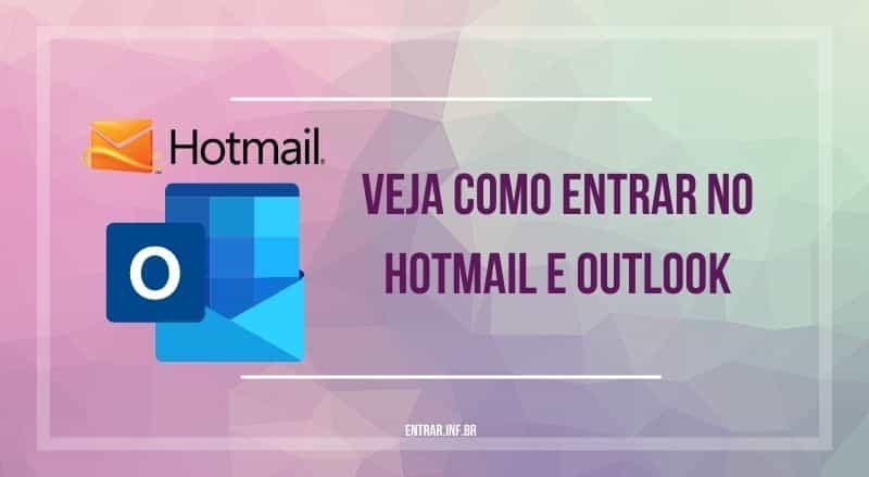 veja como entrar no hotmail e outlook